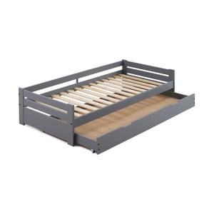 Sivá posteľ s úložným priestorom SOB Marissa