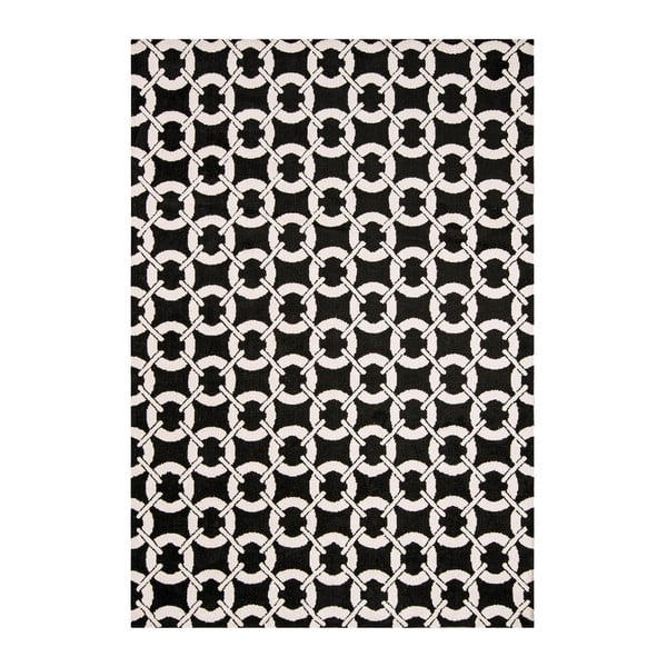 Koberec Asiatic Carpets Buckle Rug Black, 100x150 cm