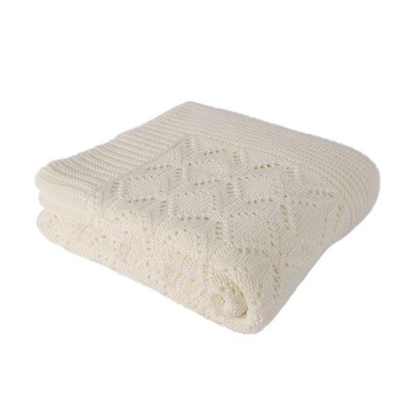 Svetlobéžová bavlnená deka Homemania Cotton, 170 x 130 cm