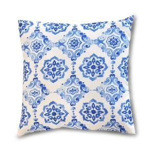 Modrá obliečka na vankúš Interiörhuset Blue Dream, 40 x 40 cm