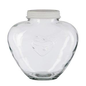 Sklenená dóza Jar Heart, 24 cm
