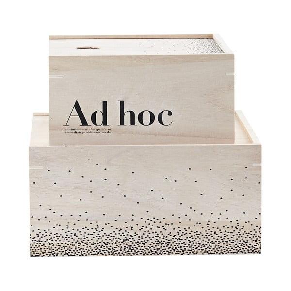 Sada 2 drevených boxov Ad Hoc