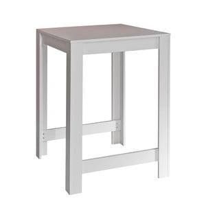 Biely jedálenský stôl Symbiosis Sulens, šírka 70 cm