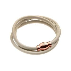 Béžový kožený náramok vo farbe ružového zlata Victoria Walls Nina