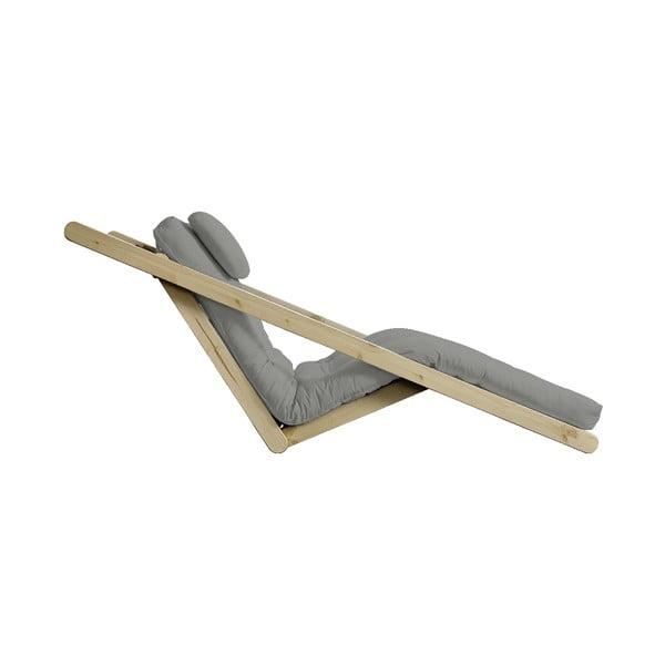 Rozkladacia leňoška se sivým poťahom Karup Design Figo Natural/Grey
