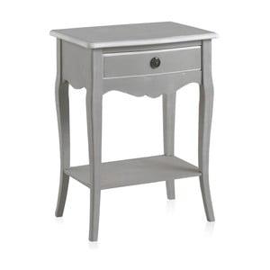 Sivý nočný stolík so zásuvkou Geese Paris