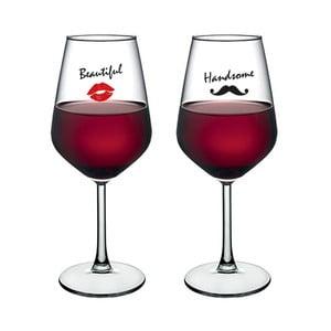 Sada 2 pohárov na víno Vivas Woman & Man, 345 cm