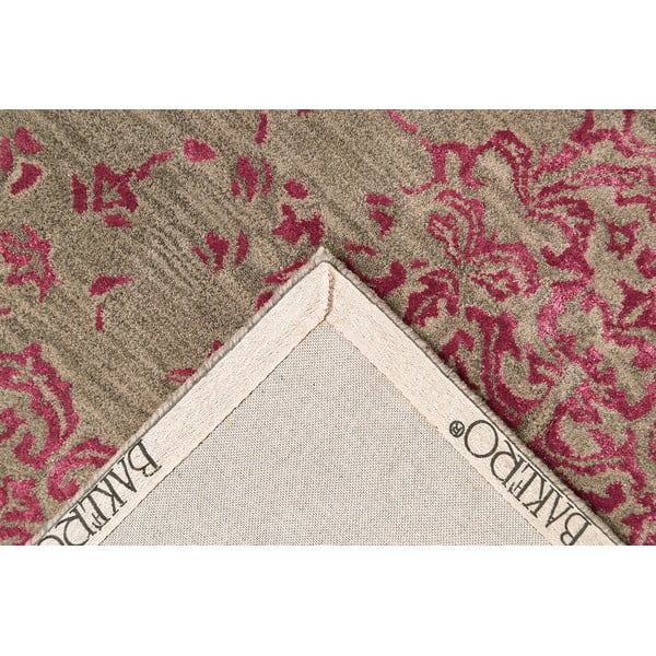 Ručne tuftovaný koberec fialový koberec New Jersey, 153 x 244 cm
