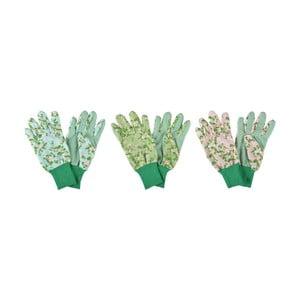Sada 3 záhradných rukavíc Esschert Design Plague Rose