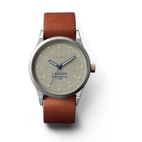 Unisex hodinky s hnedým koženým remienkom Triwa Dawn Lansen