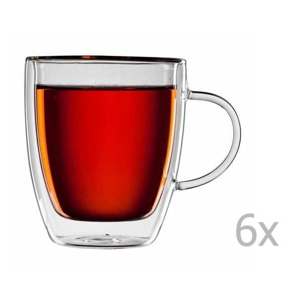 Sada 6 sklenených hrnčekov na čaj bloomix Darjeeling