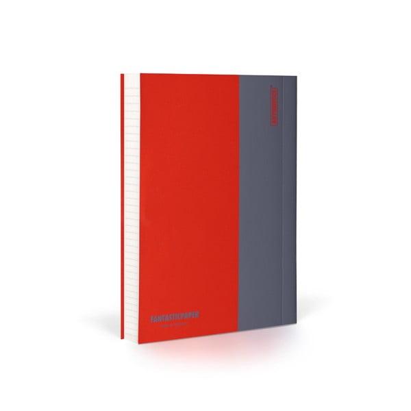 Zápisník FANTASTICPAPER A6 Cherry/Grey, riadkovaný