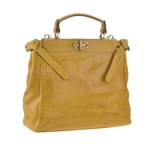 Kožená kabelka Electra, žltá