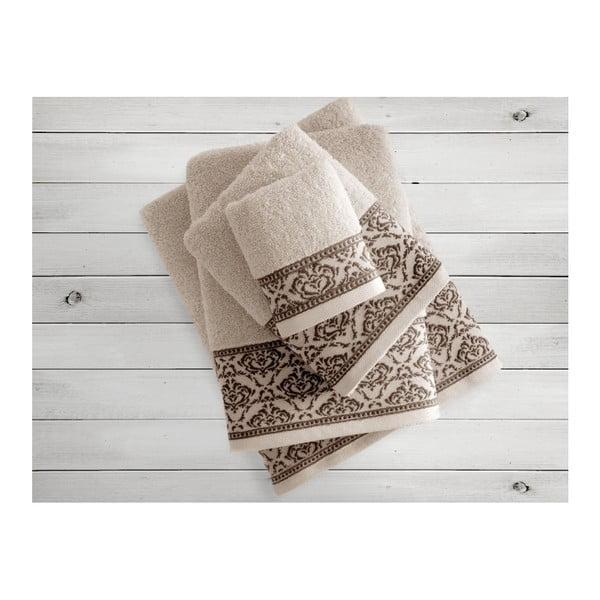 Béžový uterák Irya Home Felice, 50x90 cm