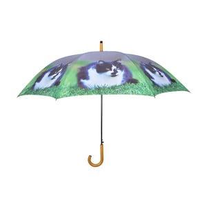 Tmavomodrý dáždnik s mačkami Esschert Design