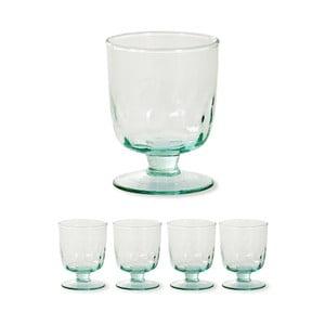 Sada 4 ks pohárov na víno z recyklovaného skla Garden Trading Wine, ø 8,5 cm