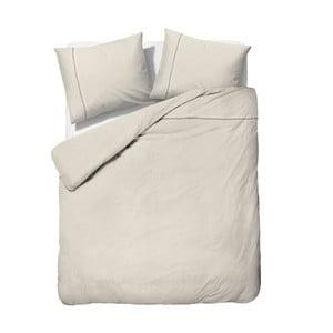 Krémové obliečky z mikroperkálu na dvojlôžko Sleeptime Monte Carlo, 200 x 200 cm