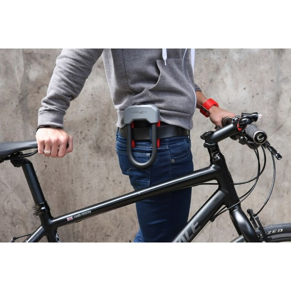 Zámok na bicykel Hiplok D, grey/red