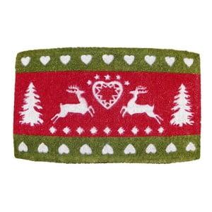 Rohožka Winter Heart & Deer, 73x45 cm