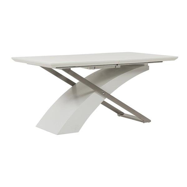 Rozkladací jedálenský stôl Level, 160-200 cm, biely