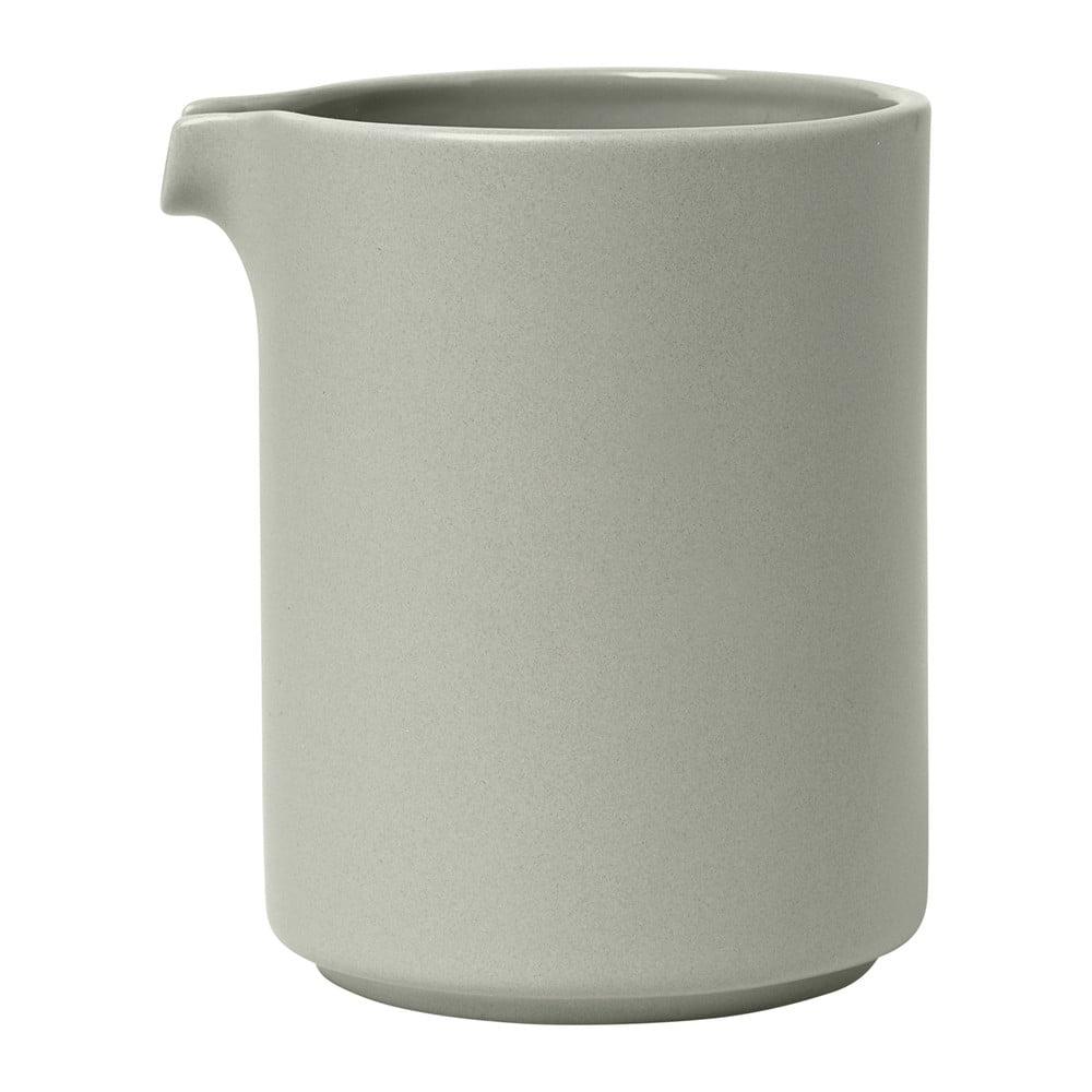 Svetlosivá keramická nádoba na mlieko Blomus Pilar, 280 ml
