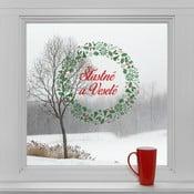 Elektrostatické vianočné samolepky Šťastné a veselé