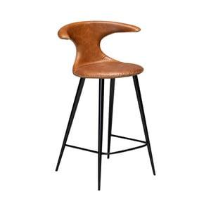 Koňakovohnedá kožená barová stolička DAN–FORM Denmark Flair Leather