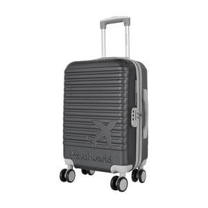 Sivá príručná batožina na kolieskach Travel World Aiport