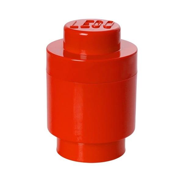 Červený úložný okrúhly boxík LEGO®
