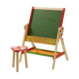 Magnetická popisovacia tabuľa so stoličkou Roba Kids