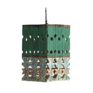 Zelené závesné svietidlo z dreva VICAL HOME Lampur