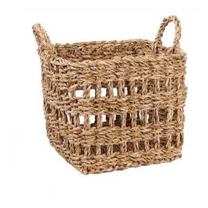 Úložný košík z morskej trávy Slowdeco Square, veľ. S
