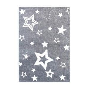 Sivý detský koberec Happy Rugs Satrlight, 130x190cm