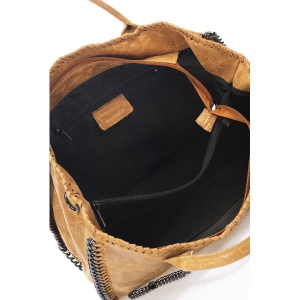 Kožená kabelka Markese 1169 Cognac