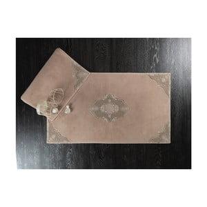 Sada 2 svetlohnedých bavlnených predložiek do kúpeľne Confetti Perla, 50×60 cm