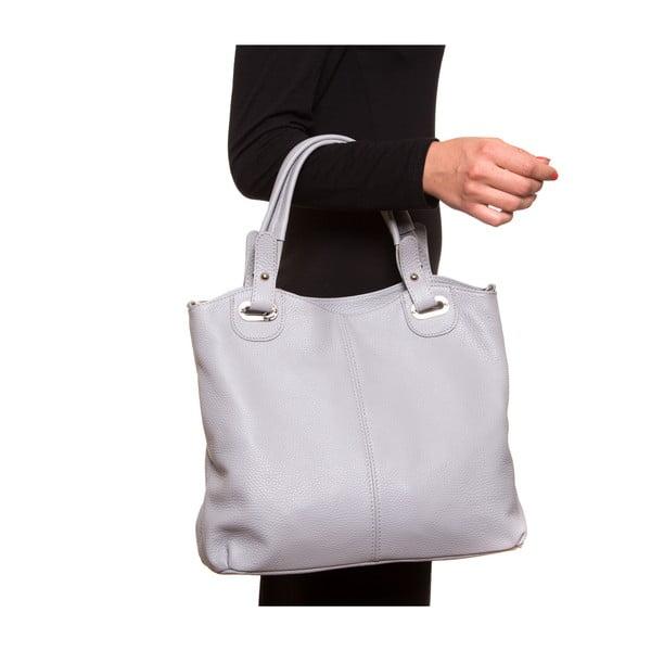 Kožená kabelka Luisa Vanini 1103, sivá