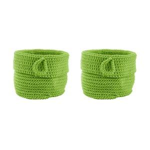 Sada 2 košíkov Confetti Lime, 13 cm