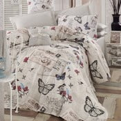 Pléd cez posteľ na dvojlôžko s obliečkami na vankúše a plachtou Retrofly, 200×235cm
