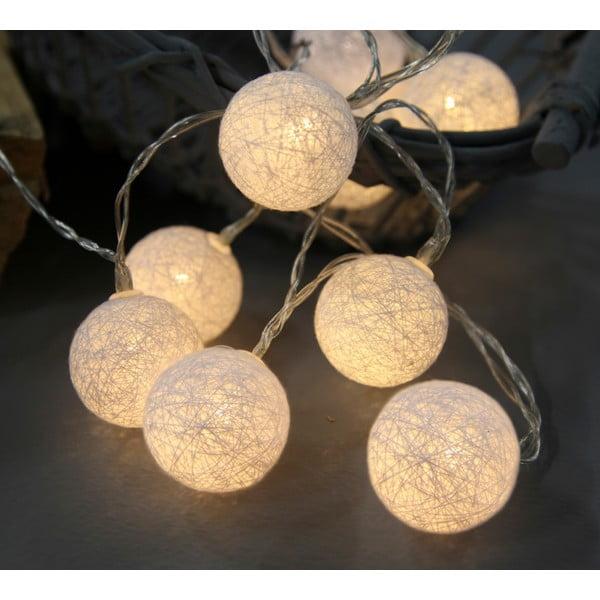 Biela svetelná LED reťaz Best Season Crystal, 10svetielok