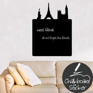 Nástenná tabuľová samolepka Paris
