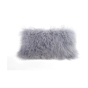 Sivý vlnený vankúš z ovčej kožušiny Auskin Desmon, 28×56 cm