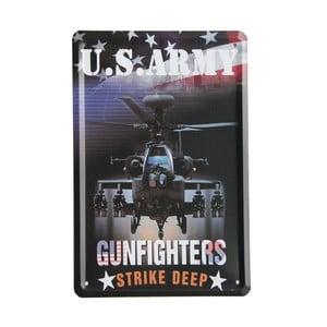 Ceduľa US Army Gunfighters, 15x21 cm