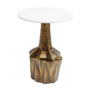 Odkladací stolík s prírodnou mramorovou doskou Kare Design Edge, ⌀ 41 cm