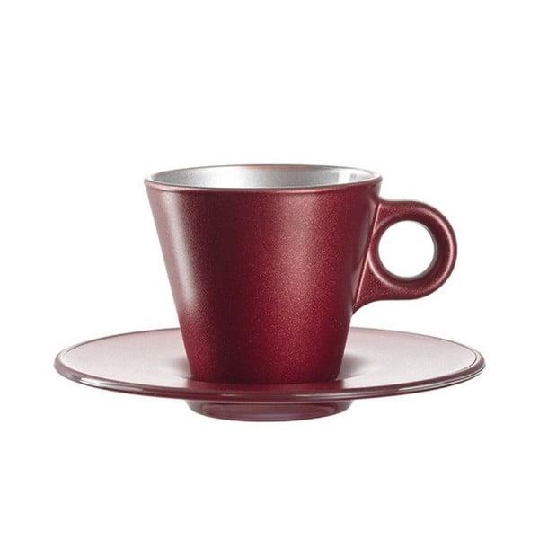 Červený metalický hrnček na espresso meniaci farbu LEONARDO Ooh! Magico