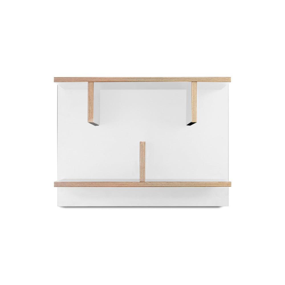 Biely nástenný policový systém TemaHome Bern, 230 × 60 cm