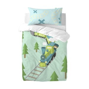 Detské obliečky z čistej bavlny Happynois Train, 100×120 cm