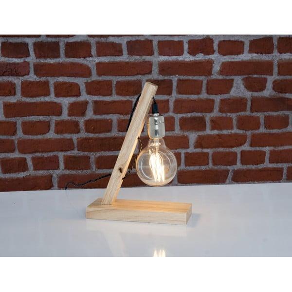 Drevená stolová lampa Sergio