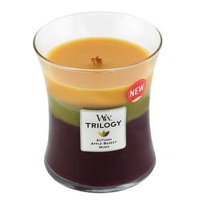 Vonná sviečka WoodWick Trilogy Jesenná tradícia, 60 hodín