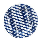 Tanier Churchill China Couture Fishie Blue, Ø 30 cm