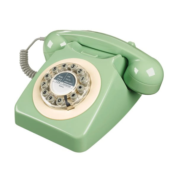 Retro funkčný telefón Serie 746 Green